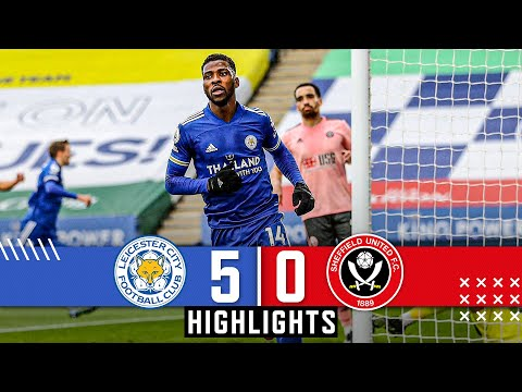 Leicester City 5-0 Sheffield United | Premier League highlights | Kelechi Iheancho hat trick goals