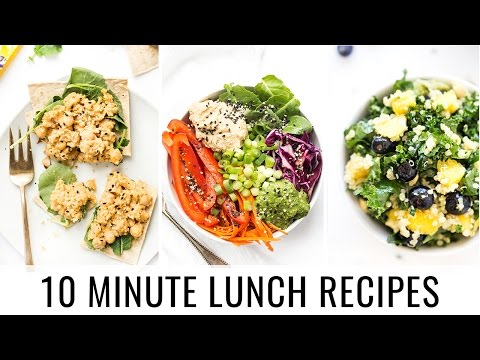 Video 10 MINUTE LUNCH RECIPES | 3 healthy recipes