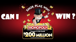 $200 MILLION MONOPOLY COLLECT AND WIN GAME PART 1