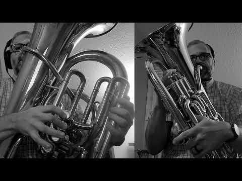 "Multitrack tuba/euphonium video of ""Down in the River to Pray,"" arranged by David Gluck. Recorded in May 2020."