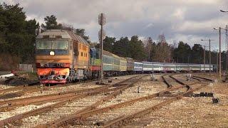 Тепловозы ТЭП70-0229+ЧМЭ3-5371 с вагонами на металлолом / TEP70-0229+CME3-5371