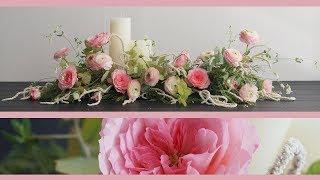[꽃수업] 롱앤로우 센터피스, 테이블 센터피스, 단상 센터피스 / [Flower Lesson] Long & Low Centerpiece With Candles