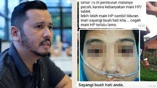 Dokter Mata Jelaskan Kebenaran di Balik Pesan Berantai 'Pembuluh Mata Pecah akibat Sering Main HP'