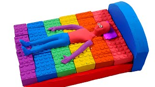 How to make a bed with kinetic sand and madmater.