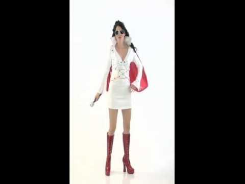 Disfraz de Elvis Viva las Vegas para Mujer
