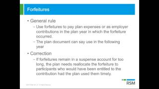 Failure to timely apply forfeitures   Top 10 retirement plan pitfalls