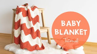 How To Crochet A Baby Chevron Zig Zag Blanket | Croby Patterns