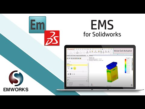 Electro-Thermo-Dynamic Simulation of a Voice Coil Actuator Using EMS and SOLIDWORKS (2/3)