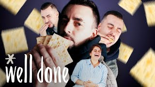 Saltine Cracker Challenge: How Many Can You Eat In A Minute? | Homemade Vs The Internet | Well Done
