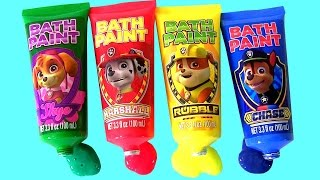 Paw Patrol Bathtub Paint Learn Colors with Lightning McQueen