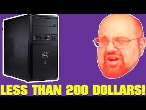 1 Large Man, 3 Super Cheap Gaming PCs