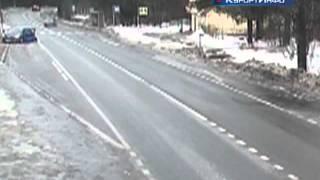 При ДТП в поселке Солнечное из автомобиля выпал водитель