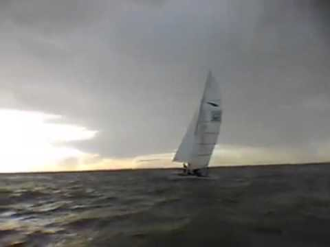 Chris and Ian sail past