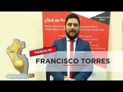 Premios ProActivo: Invitación de Francisco Torres, Minem