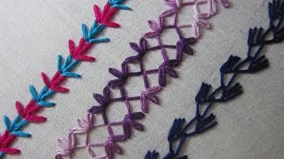 Hand Embroidery Designs | Basic Embroidery Stitches # Part 6 | Stitch And Flower-76