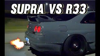 SUPRA VS R33 RACE - HIGHWAY PULLS