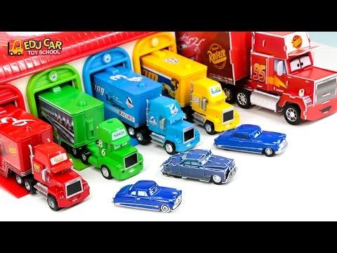 Learning Color Number Special Disney Pixar Cars Lightning McQueen Mack Truck make for kids car toy