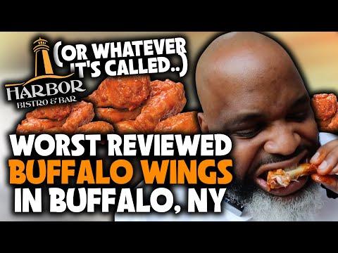 Eating At The WORST Reviewed BUFFALO WINGS Restaurant In BUFFALO, NY