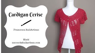 Cardigan Cerise - Drops Pattern Darling Please Inspired - Cardigan Topdown Uncinetto