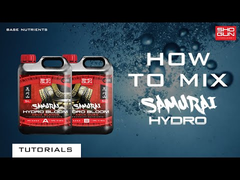 How to mix SHOGUN Samurai Hydro - Hydroponic Feed