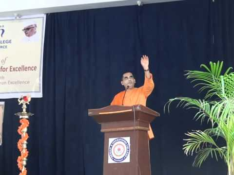 Failing In Application | Swami Bodhamayananda | Bhavans College