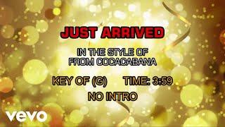 Copacabana - Just Arrived (Karaoke)