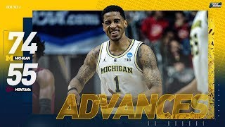 Michigan vs Montana: First Round NCAA Tournament Extended Highlights