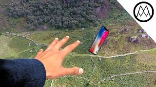 iPhone X Helicopter 1200ft Drop Test + Mous Limitless Case Review