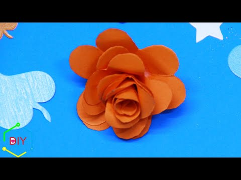 How to make paper flowers easy and simple/ Paper flowers diy