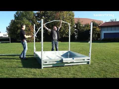 Agritubel Futterraufe 2 x 2 m mit Palisadenfressgitter