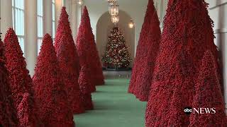 First Lady Melania Trump Unveils 2018 White House Christmas Decorations