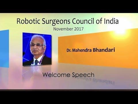Dr. Mahendra Bhandari RSC Opening Address