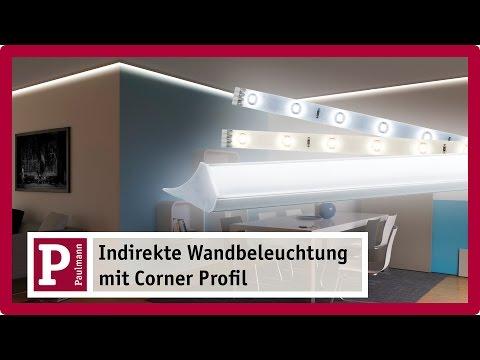 Indirekte Beleuchtung: Stuckleisten und Licht-Voute mit LED Strips und Corner Profil