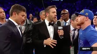 "Canelo Alvarez: ""Golovkin! You"