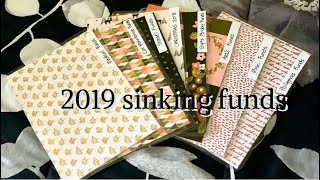 January  2019 Sinking Funds! stuffing my cash envelopes! Dave Ramsey Inspired method