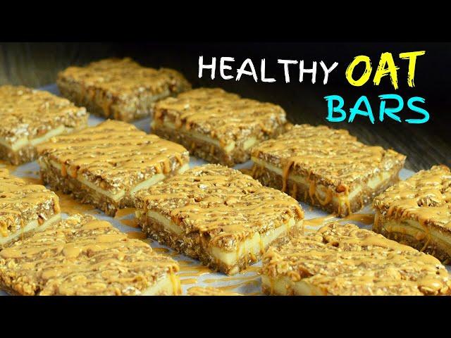 Healthy Apple Peanut Butter Oatmeal Bars