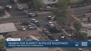 Shooting suspect barricaded in Chandler home after shooting three officers