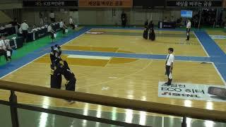 2019 단별검도대회 남자 3단부 128강 - 노건호 vs 최석호 [검도V] kendov