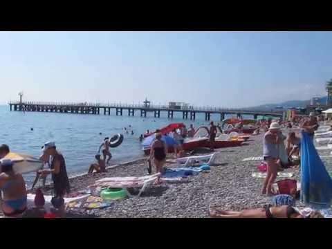 Лазаревское 2017 | Центральный пляж, выбираем духи | День 4 часть 2
