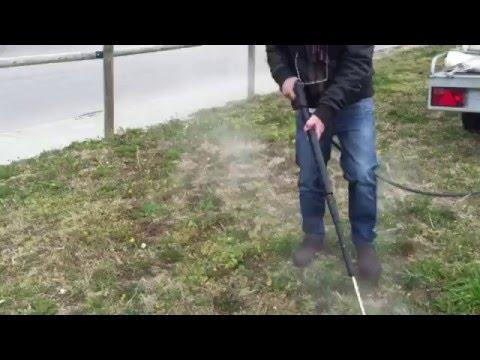 Demostración de Oeliatec mod. Hoedic (deshidratadora de malas hierbas) en Sant Hilari d Sacalm