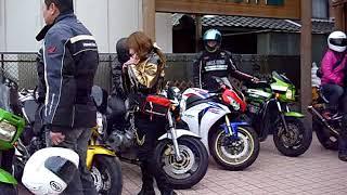 美人ライダー 2009 HONDA CBR1000RR VS Suzuki GSX1300R HAYABUSA 二輪走