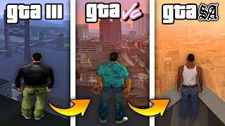 Прыжки с САМЫХ ВЫСОКИХ ЗДАНИЙ 🎈 в играх GTA !!!