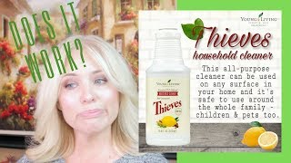 YOUNG LIVING THIEVES HOUSEHOLD CLEANER | REVIEW | NATURAL CLEANING PRODUCTS | NON-TOXIC CLEANER