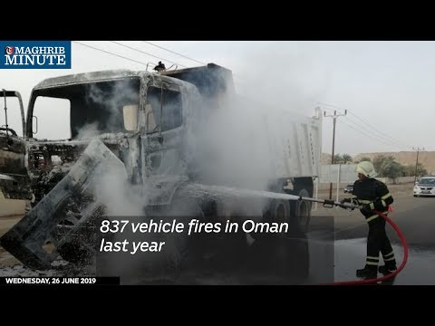 837 vehicle fires in Oman last year