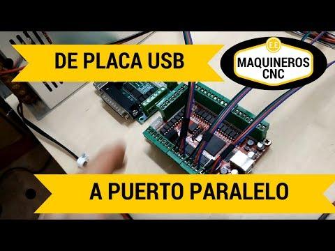 Conexiones de Interface USB a Puerto paralelo. Controladoras CNC