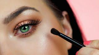Easy Eye Makeup Tutorial For Beginners | Green Eyes