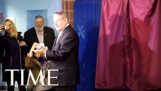 New Jersey Senator Menendez Votes In US midterm Elections | TIME