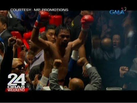 [GMA]  24 Oras: Manny Pacquiao, wagi via TKO kay Lucas Matthysse
