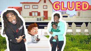 GLUED   (BEST REACTION)