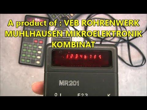 East german RFT MR201 calculator teardown